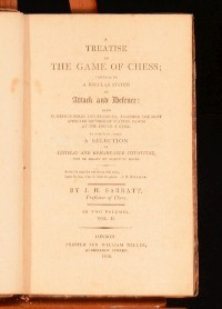 1808 2 Vol A Treatise on the Game of Chess Attack and Defence Sarratt First Ed